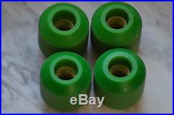 1970's Vintage CONICAL GREEN KRYPTONICS CX-66 WHITE CORE Skateboard Wheels