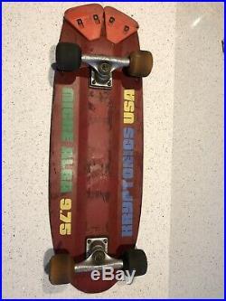 1978-79 Kryptonics K-Beam Skateboard Micke Alba Malba 9.75 Tracker Simms RARE