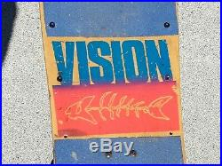 1980's VISION LOBSTER TAIL COMPLETE SKATEBOARD with GULL WING PRO BONES/TRUCKS