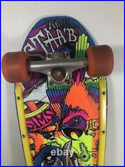 1980's Vintage Sims Kevin Staab Skateboard Pirate Scene SUPER RARE Amazing Color