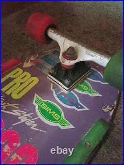 1980s Sims Steve Rocco Skateboard, 80's Survivor, Action