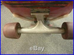 1983 Vintage Powell Peralta Tony Hawk Skateboard Chicken Skull Complete Red