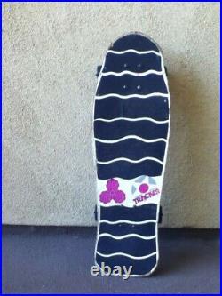 1986 Tracker Lester Kasai skateboard NOT REISSUE mini Bones Rip-Grip