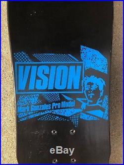1986 Vision Mark Gonzales Face Black Skateboard Deck OG Vintage old