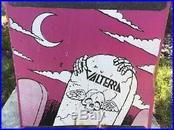 1987 Valterra Skate Zombie Skateboard Concave Team Deck