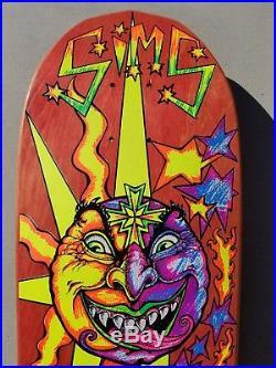 1988-89 NOS Sims Buck Smith Sun Face OG rare vintage skateboard deck Vision G&S