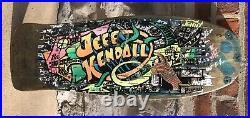 1988 OG Santa Cruz Blacktop Jeff Kendall Graffiti Skateboard Deck Autographed