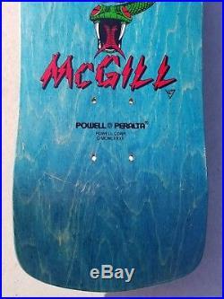 1990 NOS Powell Peralta Mike McGill Skull & Snake skateboard deck rare vintage