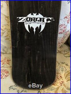 1990 NOS Zorlac Pirate Skull Vintage Skateboard Deck Pushead Original Metallica