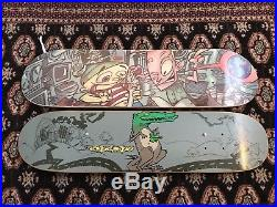 2 Acme skateboard Decks Dave Leamon Art 90s