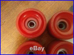 (4) 1st Generation Vintage OG used Kryptonics Skateboard Wheels set used