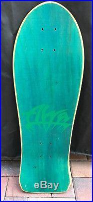 ALVA CHRIS COOK HIgh Rider VINTAGE NOS Skateboard, green woodgrain