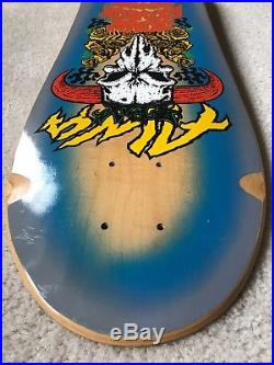 ALVA Skateboard NOS John Tex Gibson Street deck 80's mint vintage RARE blue fade