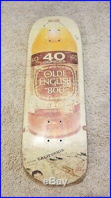 Blind RUDY JOHNSON 40oz SLICK skateboard deck 1992 OG