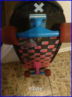 Brand X Vintage Skateboard Ugly Stix rails Variflex street rage wheels RARE