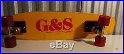 G&S Fiberglass Vintage Skateboard Deck With Bennett And Power Paw
