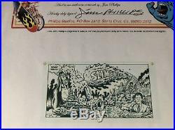JIM PHILLIPS ART ORIGINAL Sketch COA Santa Cruz Vintage Skateboard
