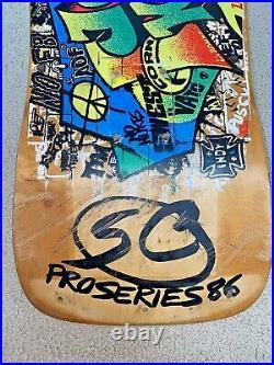 Jeff Kendall Santa Cruz Skateboard Deck Vintage From 1986 Extremely Rare