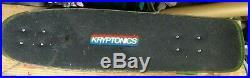 KRYPTONICS VINTAGE 30 X 8 DECK With 70mm WHEELS & GULL WING TRUCKS