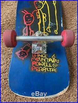 Lance Mountain Powell Peralta 1989 Vintage Family Skateboard Original Complete