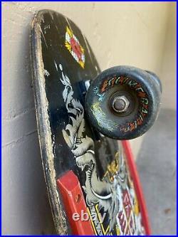 Lance Mountain Powell Peralta Crest Skateboard Deck 80s Bones Brigade Rare BLACK