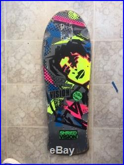 Mark Gonzales Vision vintage skateboard from 1980's Rare Yellow Neon Face