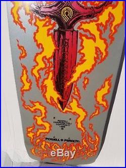 NOS 1986 Powell Peralta Tommy Guerrero silver skateboard 6 ply RARE