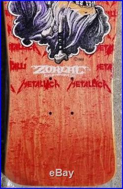 NOS Metallica Skull and Bones Zorlac / Pushead Skateboard Deck MINT 1988 OG