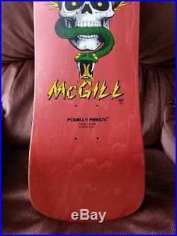 NOS Powell Peralta Mike McGill Skull Snake Skateboard Deck vintage og