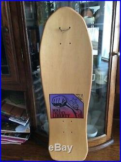 NOS Vintage 1990 Mike Smith Liberty punk Rabbit Skateboard Rare world, 101, blind