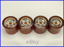 NOS Vintage 70s Apex Mags Skateboard Wheels. RARE Amber 413-Super Sport