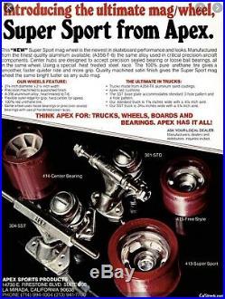 NOS Vintage Apex Mags Skateboard Wheels Mixed Set Original 70s