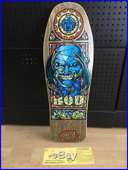 NOS Vintage Santa Cruz Bod Boyle Stained Glass Skateboard Deck