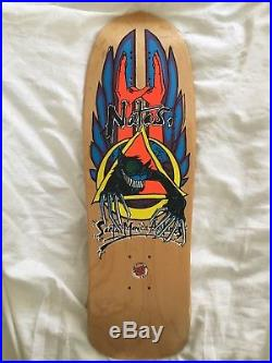NOS Vintage Santa Cruz SMA Natas Kaupas Crazy Evil Cat skateboard deck