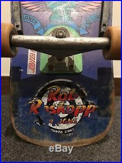 Natas Kaupas Vintage Complete Skateboard Santa Monica Airlines 1986 Rare Blue