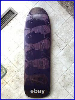 Neil Blender G&S Faces NOS Modified 80's 2-Tone Purple Skateboard deck