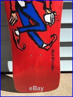 Neil Blender Skateboard Deck Tribute Vintage Shape Sticker Old School Coffee 30