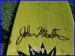 New Deal John Montesi Bad Dream slick redux Skateboard Deck Very Rare
