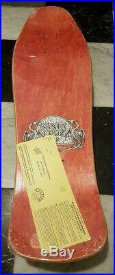 Nos Santa Cruz Hugh Bod Boyle Stained Glass Skateboard Deck 1989 Mint In Shrink