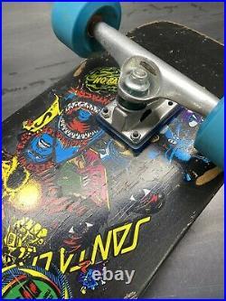 Old School Santa Cruz Skateboard 1990 Oops Series 3 Team black complete Rare