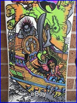 Original NOS Sims Kevin Staab Pirate Ship Mini Deck