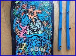 Original Santa Cruz Rob Roskopp 5 Skateboard Deck OG Vintage 1988