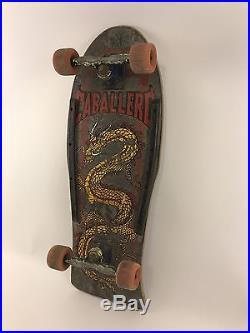 Original Steve Caballero Powell Peralta Skateboard Chinese Dragon 1980s Vintage