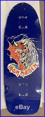 Original Vintage 1980s Iron Maiden Skateboard Deck RARE Metallica Anthrax Zorlac