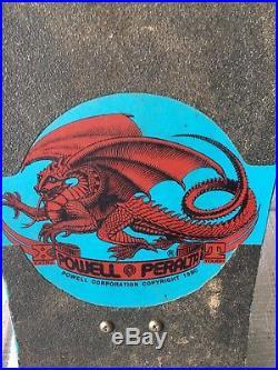 Original Vintage 1987 Steve Caballero Dragons and Bats Skateboard Blue
