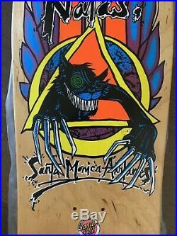 Original Vintage SMA Natas Kaupas Evil Cat Skateboard Deck Santa Cruz MINT CON