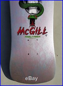 Powell Peralta Mike McGill Skull Snakeskin bottle nose vintage rare OG NOS cab