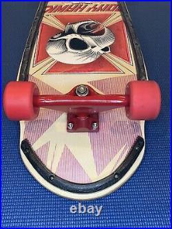Powell Peralta Tony Hawk 1983 Vintage Skateboard, Tracker Sixtrack, Cross Bones