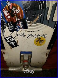 Powell peralta skateboard vintage Mike McGill 1st board 1981RARE bones brigade