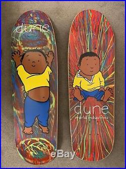 RARE Original Vintage 1990 World Industries DUNE Pro Model Skateboard Pair 1/1